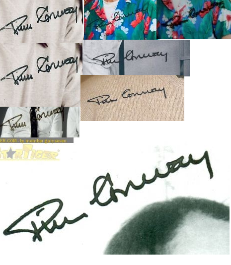 Tim Conway stamped autographs