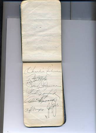 yankees team antique autographs
