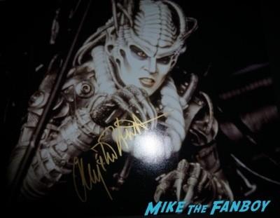 Anjelica Huston signing autographs fan photo rare addams family 1