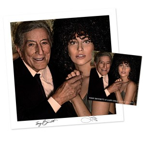 lady gaga tony bennett signed autograph lithograph