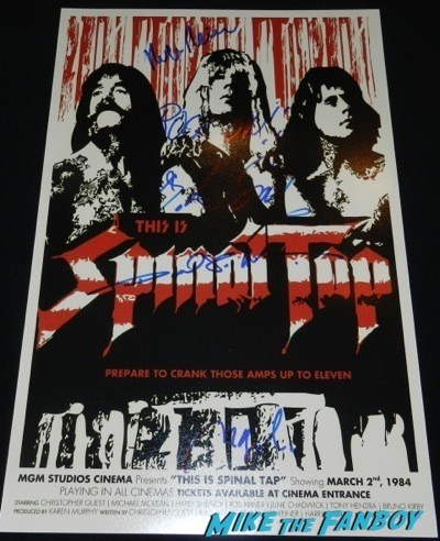 this is spinal tap poster signed autograph rob reiner