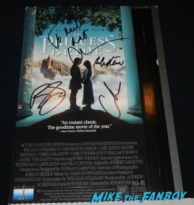 princess bride counter stand standee signed autograph rob reiner cary elwes