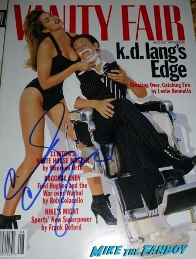 Cindy Crawford signed autograph photo rare promo 2