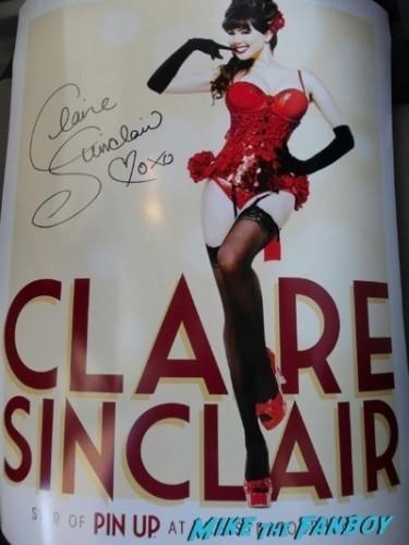 Claire Sinclair fan photo signing autographs selfie rare 2