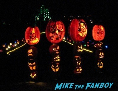 Descanso Garden Rise of the Jack O'lanterns carved pumpkins the walking dead  106