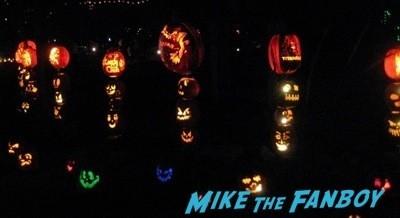Descanso Garden Rise of the Jack O'lanterns carved pumpkins the walking dead  16