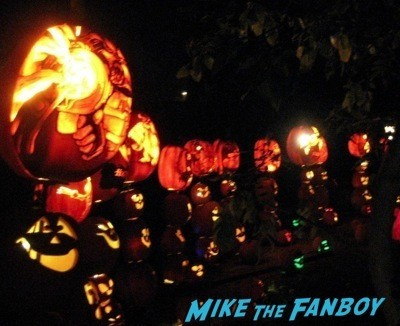Descanso Garden Rise of the Jack O'lanterns carved pumpkins the walking dead  43