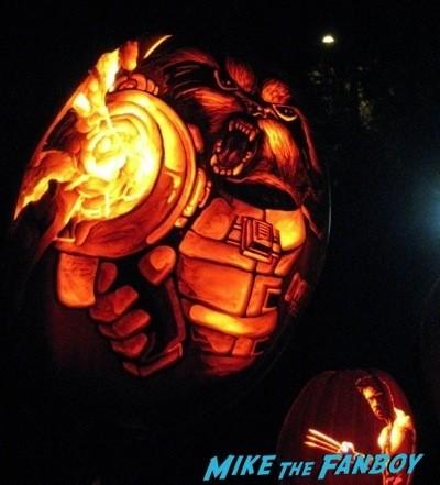 Descanso Garden Rise of the Jack O'lanterns carved pumpkins the walking dead  45