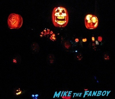 Descanso Garden Rise of the Jack O'lanterns carved pumpkins the walking dead  90