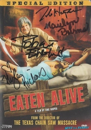 eaten alive signed autograph dvd cover