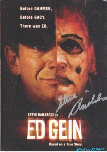 Ed Gein signed autograph dvd cover