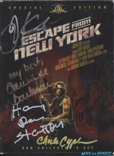 escape from new york signed autograph dvd cover