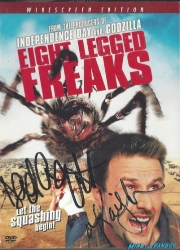 eight legged freaks signed autograph dvd cover