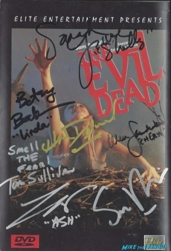 the evil dead signed autograph dvd cover