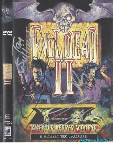 Evil Dead 2 signed autograph dvd cover