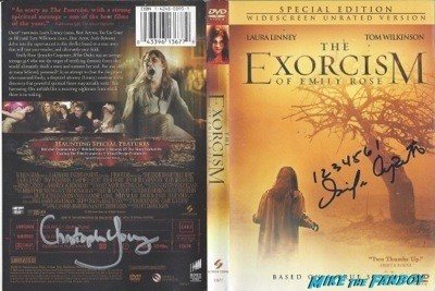 The Exorcism of emily rose signed autograph dvd cover