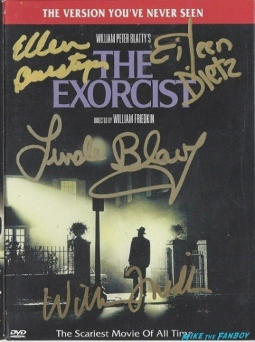 exorcist signed autograph dvd cover
