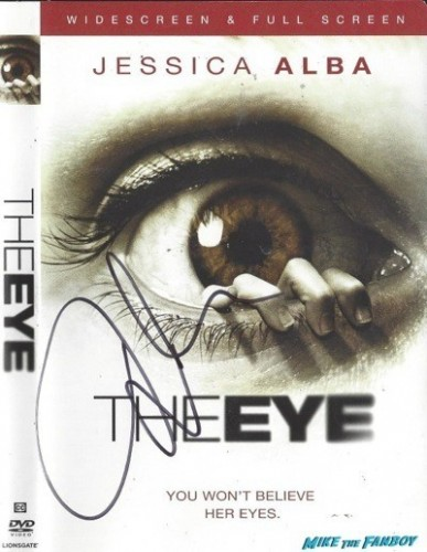The Eye signed autograph dvd cover