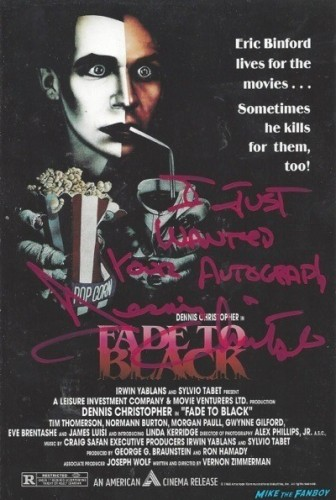 Fade To Black signed dvd cover
