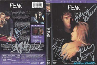 Mark Wahlberg fear  signed dvd cover