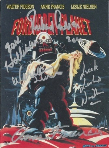 forbidden planet signed dvd cover