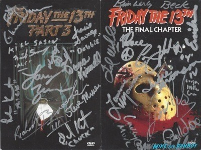 friday the 13th dvd cover  signed dvd cover