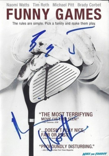 funny games signed dvd cover