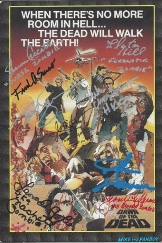 Dawn of the dead signed dvd cover