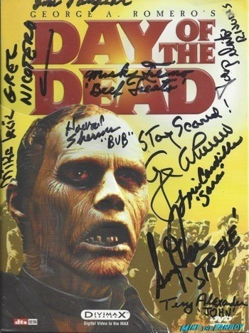 Day of the dead signed DVD Cover