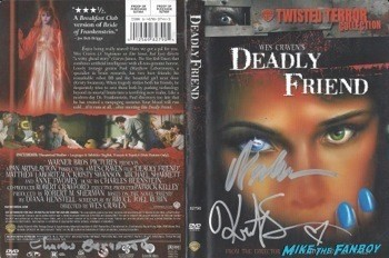 Deadly Friend Signed DVD Cover kristy swanson
