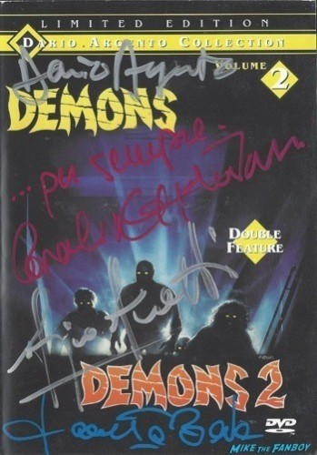 demons demons 2 signed autograph dvd cover