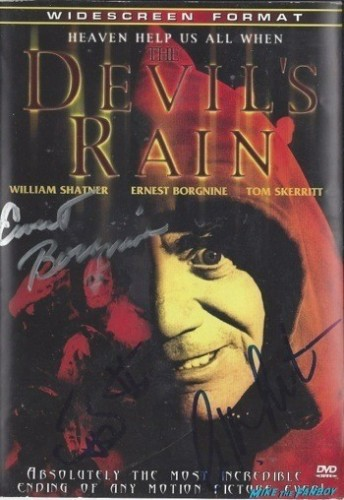 The Devil's Rain signed dvd cover