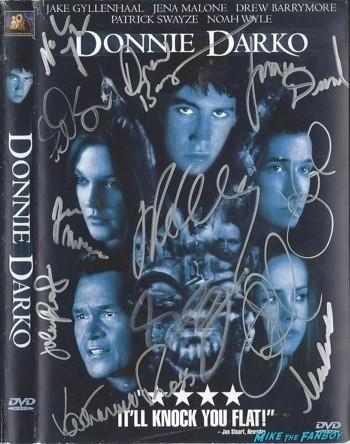 donnie darko signed dvd cover