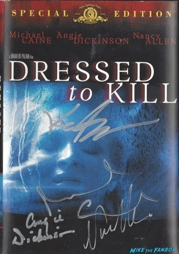 Dressed to Kill signed dvd cover