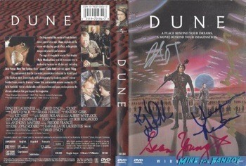 Dune Signed DVD Cover David Lynch