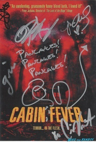 CAbin Fever signed autograph dvd cover