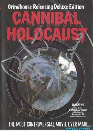 Cannibal Holocaust signed autograph dvd cover
