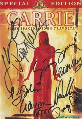 Carrie signed autograph dvd cover