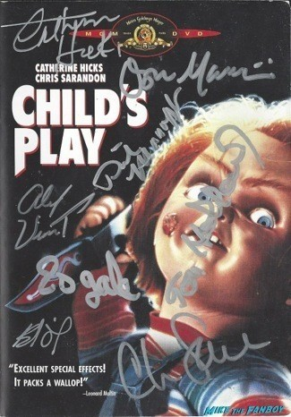 Child's Play signed autograph dvd cover