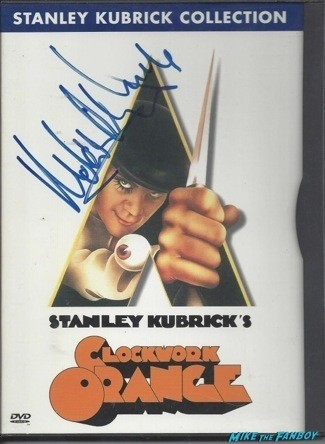 A Clockwork Orange signed autograph dvd cover