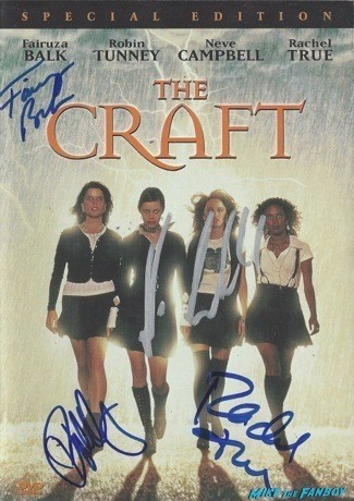 The Craft signed autograph dvd cover