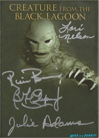The Creature From The Black Lagoon signed autograph dvd cover