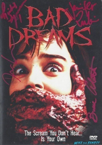 bad dreams signed autograph dvd cover rare