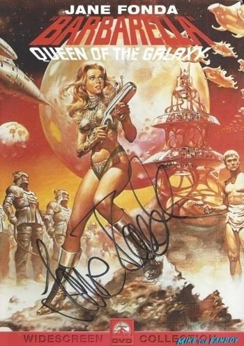 barbarella signed autograph dvd cover rare