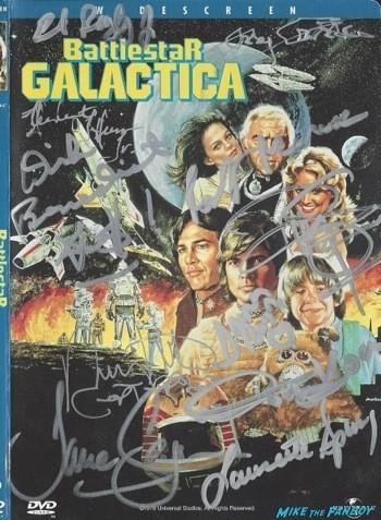 Battlestar Galactica signed autograph dvd cover rare