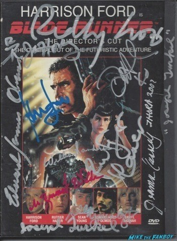 Blade Runner signed autograph dvd cover rare