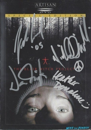 Blair Witch Project signed autograph dvd cover rare