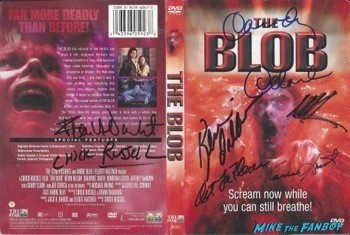 The Blob signed autograph dvd cover rare