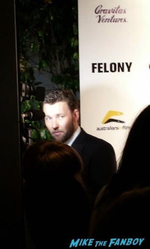 Felony premiere meeting joel edgerton signing autographs hot 3