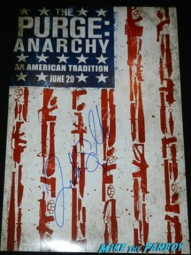 Frank Grillo signed autograph purge: Anarchy mini poster